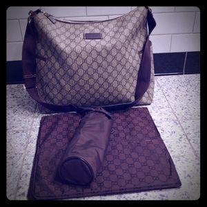 Gucci Supreme Diaper Bag Changing Mat Btl Holder